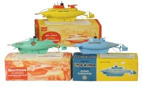 Toy boats (3), Sutcliffe submarines, Sea Wolf,