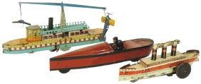 Toy boats (3), Espana' aircraft boat by Paya, c.1930's,