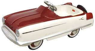Children's pedal car, Kidillac, painted pressed steel