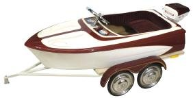 Children's  boat on trailer, mfgd by Murray,