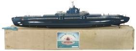 Toy boat w/box, Wooden Scientific Models-Japan