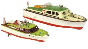 Toy boats (2), Japanese ITO cruisers, wood & painted