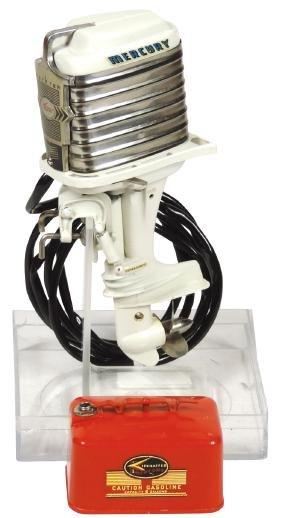 Toy boat motor, 1959 Mercury Mark 78-A Drink Mixer,