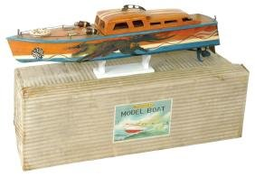 Toy boat, Japanese ITO cabin cruiser dragon boat, Rare,