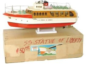 "Toy boat, Japanese ITO tour boat, ""S.S. Statue of"