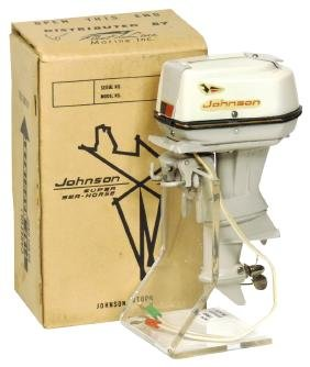 Toy boat motor, Fleet Line 1962 Johnson Super Sea-Horse