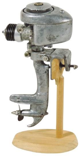 Toy boat motor, Fuji .049 (gas), Rare, cast metal in