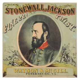 Tobacco sign, Stonewall Jackson Fine Twist, from Watson