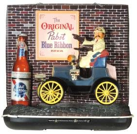 Breweriana sign, Pabst Blue Ribbon, molded plastic