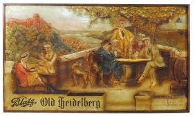 Breweriana sign, Blatz Old Heidelberg, dated 1933,