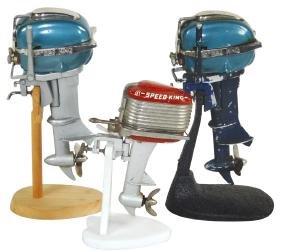 Toy boat motors (3), 2 Rico Speed King (1 wkg) both