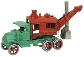 Toy truck, Hubley Panama Mack shovel truck, c.1933,
