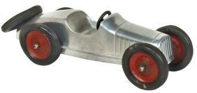 Toy car, Cleveland Racer, c.1928, cast aluminum, Exc
