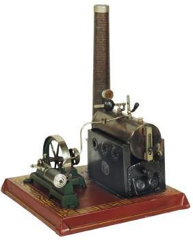 Steam engine, E.P. (Ernst Plank) horizontal engine,
