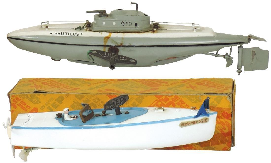 Toy boats (2), JEP France Nautilus submarine, Good cond