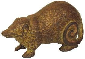 Still bank, Possum, cast iron, mfgd by Arcade,