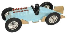Toy car & boat (2), recast Hubley boat-tail racer