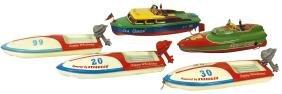 Toy boats (5), Speed Queen 2, Sea Queen 58 & (3)