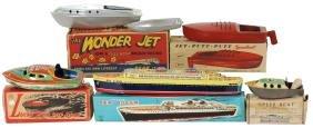 "Toy boats (5), Musuya Japan ""Sea Queen"" passenger ship,"