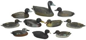 Decoys (10), miniature or salesman samples, created by