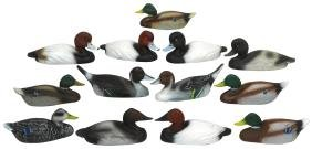 Decoys (13), miniature or salesman samples from