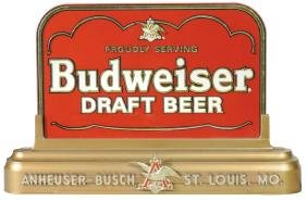 Breweriana Sign, Budweiser Draft Beer, Molded Plastic &