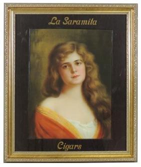 Cigar sign, La Saramita Cigars, litho on paper