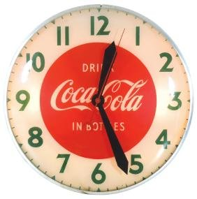 "Coca-Cola clock, ""Drink Coca-Cola in Bottles"", electric"