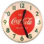 """Coca-Cola clock, """"Drink Coca-Cola in Bottles"""", electric"""