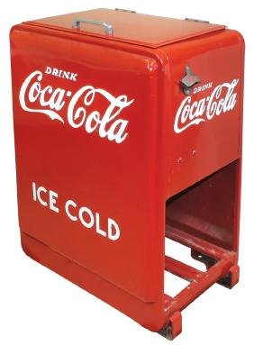 Coca-Cola cooler, Westinghouse Junior, embossed on all