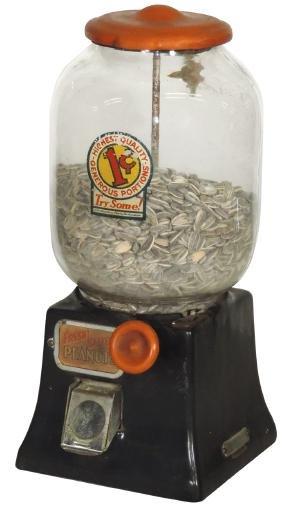 Coin-operated peanut machine, Northwestern, 1 Cent,