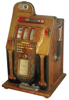 Coin-operated slot machine, Mills Cherry Bell, 10 Cent,