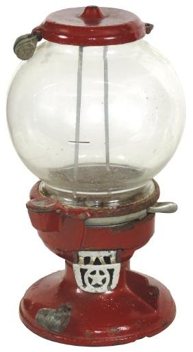 Coin-operated peanut machine, Columbus A, cast iron