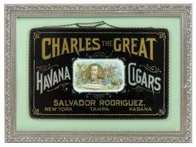 Cigar sign, Charles The Great Havana Cigars, reverse on