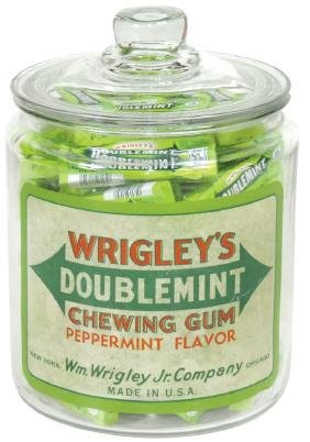 Country store chewing gum counter display jar,