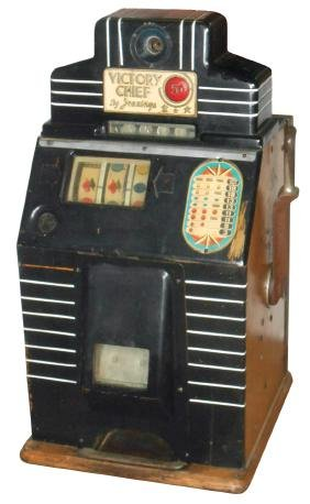 Coin-operated slot machine, Jennings Victory Chief, 5