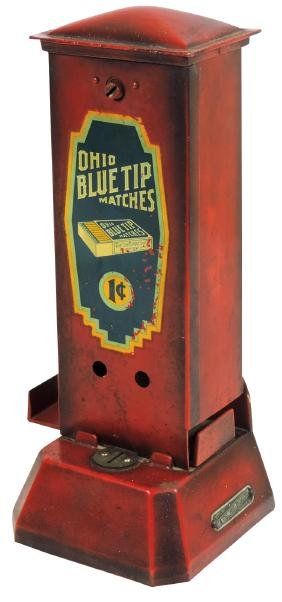 Coin-operated match machine, Ohio Blue Tip Matches,