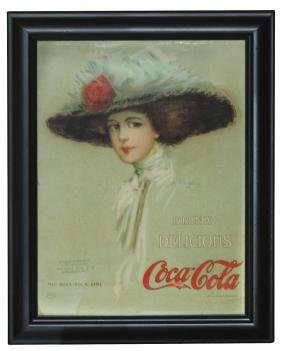 "Coca-Cola calendar top, c.1910 Hamilton King ""The"