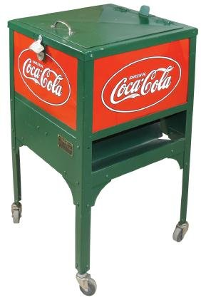 Coca-Cola cooler, Glascock Jr, mfgd by Glascock