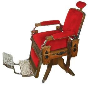 Barber chair, Koken, oak, c.1890, older restoration,