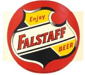 "Breweriana sign, ""Enjoy Falstaff Beer"", from Falstaff"