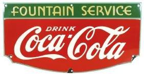 Coca-Cola Fountain Service sign, porcelain, from Tenn.