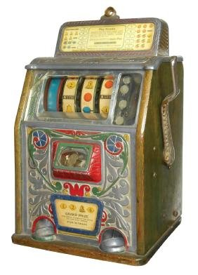 Coin-operated slot machine, Caille, Rare 5 Cent