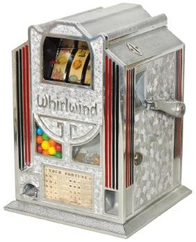 Coin-operated trade stimulator, Whirlwind w/fortune