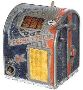 Coin-operated trade stimulator, Penny Pack, cast