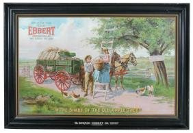 Hardware store sign, The Ebbert Wagon from