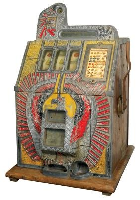 Coin-operated slot machine, Mills War Eagle, 5 Cent,