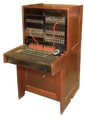 Telephone operator's switchboard, Western Electric,