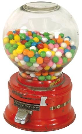 Coin-operated gumball machine, Ford, early version