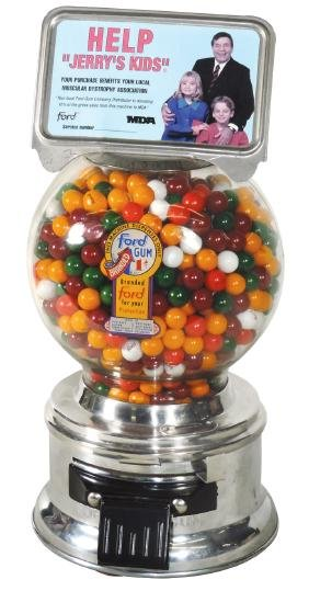 "Coin-operated gumball machine, Ford w/MDA ""Jerry's"